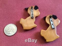 Vintage Martha Sleeper Angry Dogs Bakelite Pins