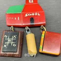 Vintage Martha Sleeper Bakelite School Pin