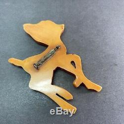 Vintage Martha sleeper Designer Bakelite Deer Fawn Brooch Pin