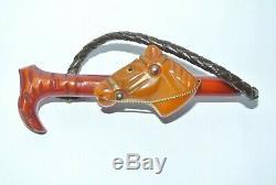 Vintage Rare Bakelite Horse Head & Equestrian Riding Crop Brooch Pin 3 1/4