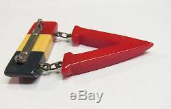 Vintage SUPER RARE WW2 Bakelite Patriotic Victory Pin Brooch