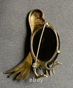 Vintage Silver Pin/Brooch withBlack Bakelite