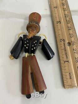 Vintage Uncle Sam Pin Patriotic Painted Bakelite & Wood 1930's 40's Authentic